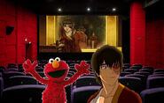 Elmo and his ally Zuko watching Azula's breakdown