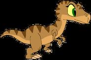 Fiona as young thetarbosaurusguard