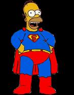 Homer Simpson as Superman