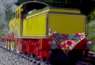 Molly wearing a floral bikini bottom