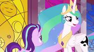 Princess Celestia asks where Luna is S7E10