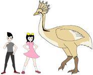 Riley and Elycia meets Elephant Bird
