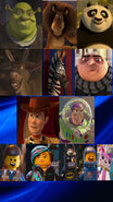 Shrek, Alex and Po's Heroism Gang