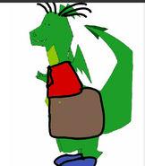 Stanley Griff as a dragon