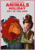 Animals holiday gift of the lion poster