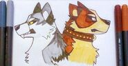 Inutober day twenty two white fang and buck by anactuallion dcq413z-fullview
