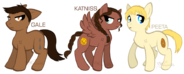 Katniss Everdeen, Peeta Mellark, and Gale Hawthorne Ponified