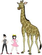 Riley and Elycia meets South African Giraffe
