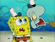 Squidward mad at Spongebob