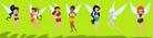 Disney Fairies as Jungle Girls
