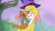 Rabbit hugs roo for the easter spirit