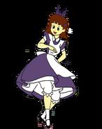 Sarah spacebot as alice twirling by darthranner83-dckhl5v