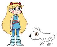Star meets Domestic Rabbit