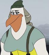 Mann the pelican