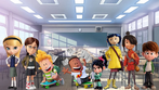 Penny, Margo, George and Harold, Vanellope, Kubo, Coraline Jones, and Nate the Classmates