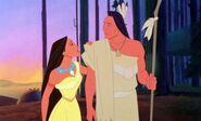 Pocahontas and Chief Powhatan