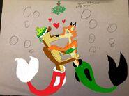 Bodi merdog and darma merfox kissing colorized by trainboy55 dea8p1l-fullview