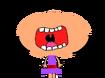 June yells AAUGH!