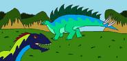 Eg primordia allosaurus vs stegosaurus by syfyman2xxx dbvwluk