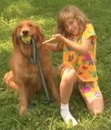 Jamie Grable with her dog
