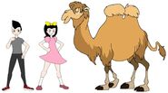 Riley and Elycia meets Wild Bactrian Camel