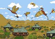 Stymphalian birds and tanks by lemur89-d1n1mlu