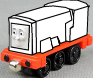 Take Along and Take 'n' Play Devious Diesel (happy face) (Ghost Version)