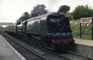 West Country class pacific No 34105 Swanage on the Mid Hants Railway