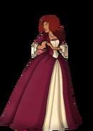 Starfire dressed as holiday princess