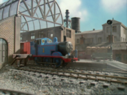 Thomas leaves a station.