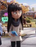 Addie looking at Alex