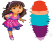 Dora watches Kate spinning into a tornado