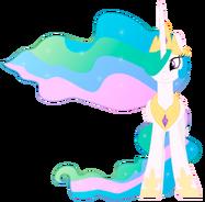 Princess celestia happy front vector by bluedragonhans d4kzo57-pre
