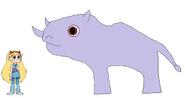 Star meets White Rhinoceros