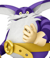 Big the Cat in Sonic and Sega All-Stars Racing