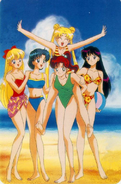 Sailor Scouts at the beach