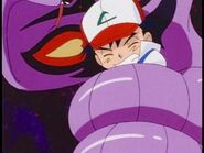 Ash in the grip of Arbok