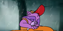 Bright Heart Raccoon mourns for Brave Heart Lion.png