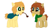 Merry and Pippin Ponified