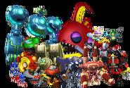 Mr Eggman's robots