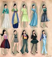 Mulan in 20th century fashion by BasakTinli