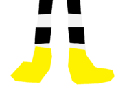 Penny Forrester with yellow slippers