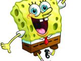 Spongebob Squarepants and Sandy Cheeks (Gnomeo and Juliet)