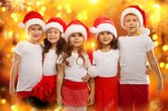 33970638-group-of-happy-kids-in-christmas-hat-with-colorful-lights-on-background-holidays-christmas-new-year-