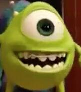Mike Wazwoski in the Monsters University Shorts