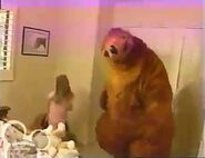 Bear and a kid dance the Morning Mambo