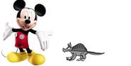 Mickey meets Nine-Banded Armadillo