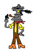 Mr. Cerberus as Reflux the Knaaren.