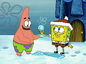 SpongeBob and Patrick in the snow
