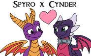 Spyro x Cynder (Reignited version) by MelSpyRose